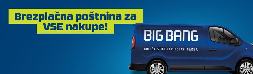 Vikend brezplačne poštnine v Big Bangu