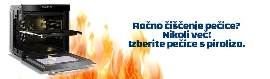 Izberite pečico s tehnolgijo Piroliza